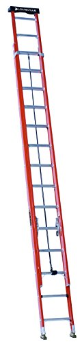 Ladder Fiber - Louisville Ladder 28-Foot Fiberglass Extension Ladder with Pro Top, 300-Pound Capacity, L-3022-28PT