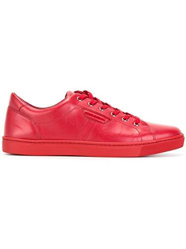 Uomo Cs1362a344480303 Rosso Pelle Sneakers Dolce Gabbana E 4xgqwA
