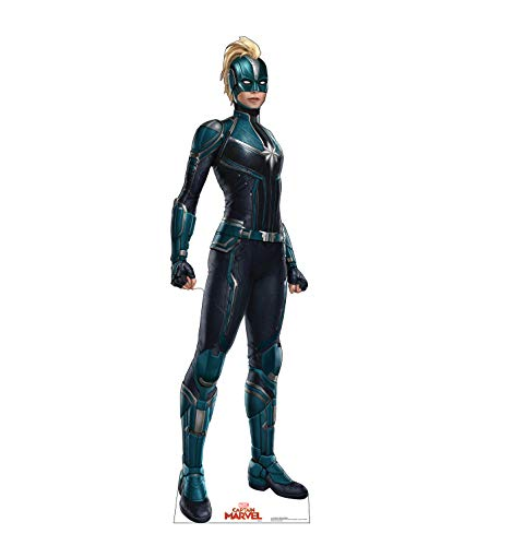 Advanced Graphics Captain Marvel Mask Life Size Cardboard Cutout Standup - Captain Marvel (2019 -