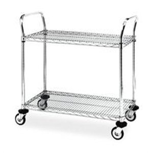 Cart, Wire, 2 Shelves by Metro