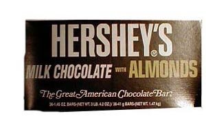 Hershey Chocolate Almond Bar King Size by Buy Candy Wholesale [Foods] - Buy Wholesale Food