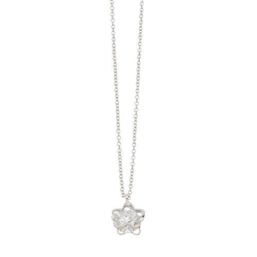 Purple Box Jewelry Howard's Dazzlers - Silver Rounded Star Frame Necklace w/Cubic Zirconia Stone