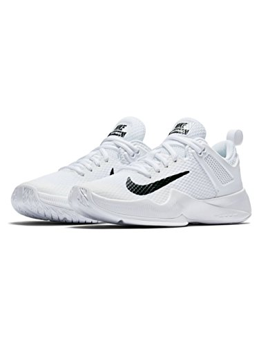 Nike Women's Air Zoom Hyperace Volleyball Shoes White/Black Size 9 M US by NIKE