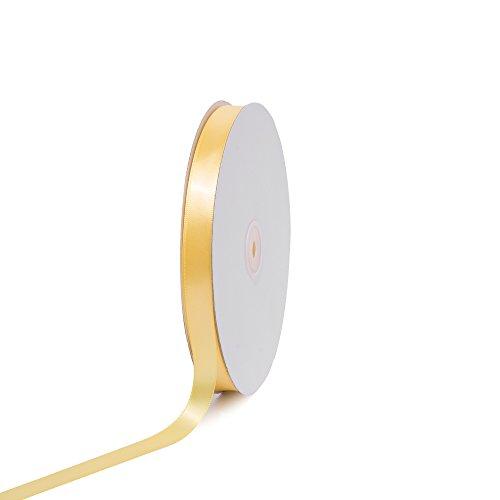 [Creative Ideas PSF0508-640 Solid Satin Ribbon, Canary, 5/8