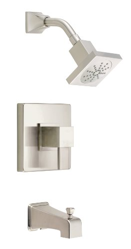 Danze D502033BNT Reef Single Handle Tub and Shower Trim with Efficient Flow Showerhead, Brushed Nickel