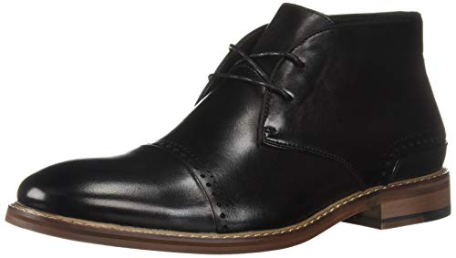- STACY ADAMS Men's Ashby Cap-Toe Lace-Up Chukka Boot, Black 11 M US