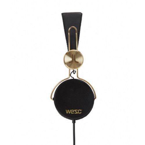 WESC 0006924999 Banjar Golden Headphones with Mic, Black