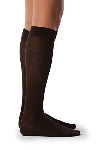 Sigvaris Sea Island Cotton 222CXLW99 20-30 mmHg Womens Closed Toe Socks44; Black - Extra Large44; Long   B00OBL8A1K
