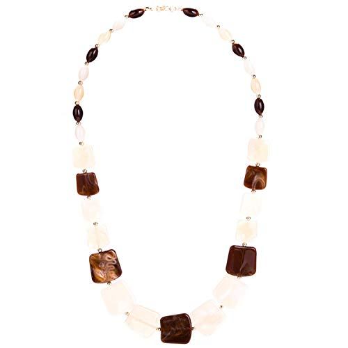 New Maxi Statement Long Beads Necklaces Collier Fashion Spring Acrylic Geometric Pendant Collar Necklace