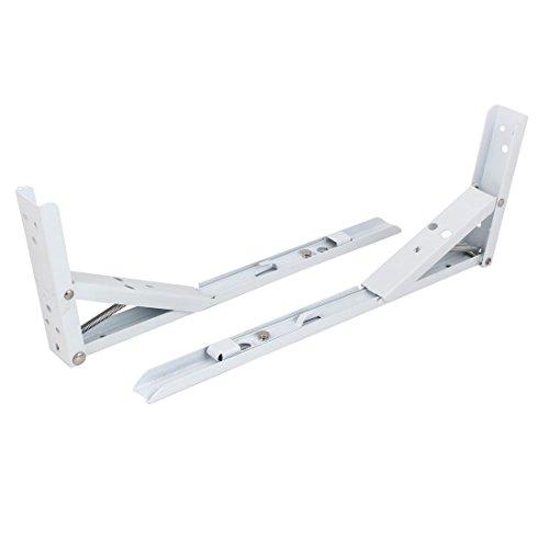 Uxcell a16041100ux2211 Folding Shelf Bracket 14 inch Long 90° Spring Loaded Folding Support Shelf Bracket 2Pcs by uxcell