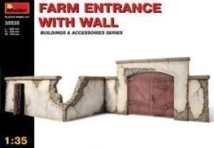 Miniart 1:35 Farm Entrance With Wall Building Kit 35535