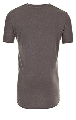 Sky Rebel Long T-Shirt OTIS ZIP SHIRT Basic, 23300 middle grey, S