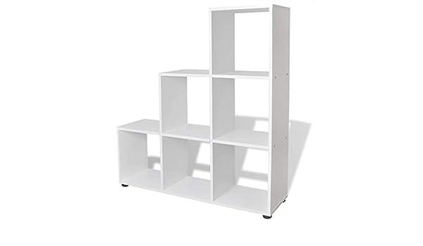 Tuduo estantería de Escalera/con Estante 107 cm Blanca diseño Elegante y único estantería Moderna estantería de diseño: Amazon.es: Hogar