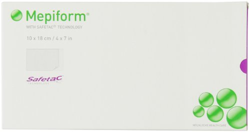 Mepiform with Safetac® Technology self adherent soft silicone sheeting, 4 X 7 Inch, 5 Count by Hibiclens