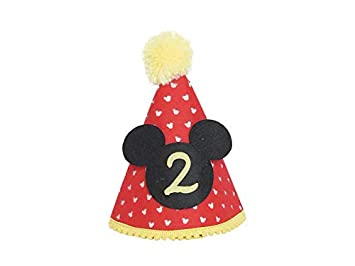 Amazon Mickey Party Hat Second Birthday Outfit Boy Mickey