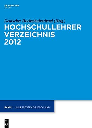 Hochschullehrer Verzeichnis: Universitäten Deutschland