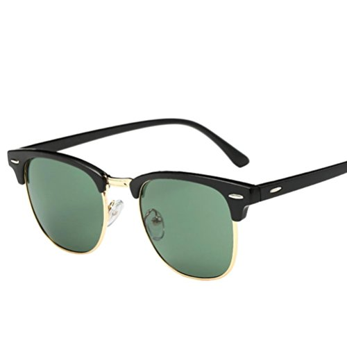 Start Unisex Men Women Square Mirrored Sunglasses Eyewear Outdoor Sports Glasses (Bright Green B, - Turquoise Glasses Girl American