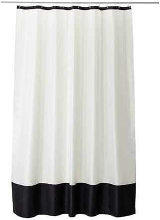 Farglav Ikea Rideau De Douche Blanc Noir Amazon Fr