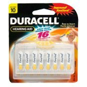 Duracell Easy Tab Size 10 Hearing Aid Batteries (16 - Batteries Aid Hearing 10