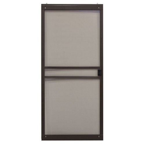 precision screen & security prod 3751bz3068 Branson Series, 36'' Wide, Bronze, Adjustable, Patio Sliding Steel Screen Door by precision screen & security prod