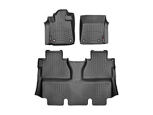 WeatherTech Custom Fit FloorLiner for 2014-2019 Toyota Tundra CrewMax - 1st & 2nd Row (Black)