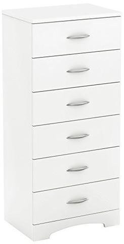 Industrial 26' Tool Box - ioneyes 6 Drawer Dresser Chest White Lingerie Step One Pure