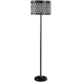 allen roth eberline 60 5 in bronze foot switch floor lamp with metal shade. Black Bedroom Furniture Sets. Home Design Ideas