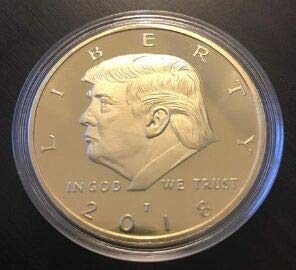 Large Product Image of The Official 2018 Gold Donald Trump Commemorative Coin - Authentic 24k Gold Collectible Coin of 45th President of the United States - Republican Collectibles Challenge Memorabilia Gift [CASE INCLUDED]