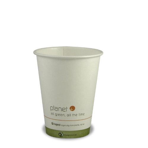 Planet + 100% Compostable PLA Laminated Hot Cup, 12-Ounce, 1000-Count -