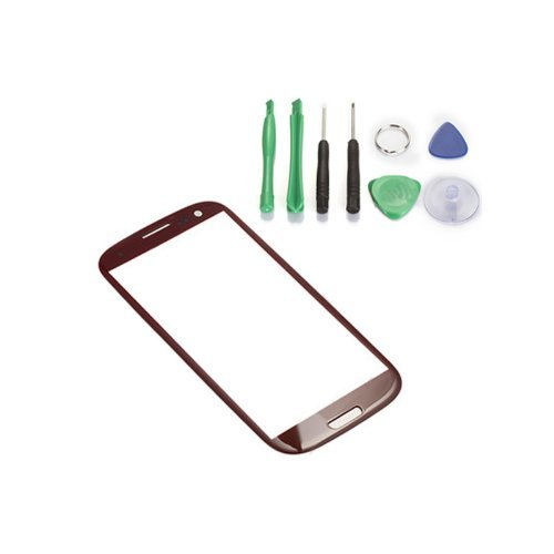 Replacement Glass for Samsung Galaxy SIII i9300 - Free TOOLS Red