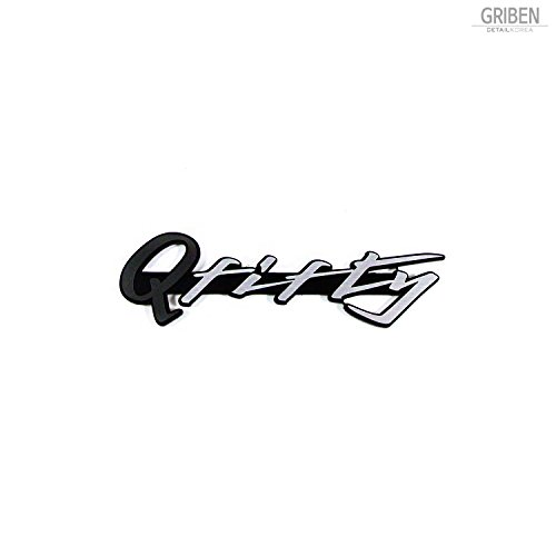 [해외]Griben Q Fifty Car Emblem Dark Gray Sliver 4 Badge 30217 for Infiniti Q50 / Griben Q Fifty Car Emblem Dark Gray Sliver 4 Badge 30217 for Infiniti Q50
