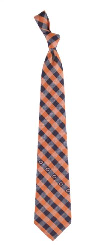 Chicago Bears Check Poly Necktie by Eagles Wings