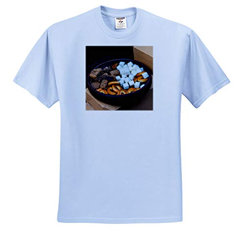 Alexis Photography - Food - an Earthenware Bowl Filled with Sugar, Dried Bread and cracknels - T-Shirts - Light Blue Infant Lap-Shoulder Tee (12M) (ts_307628_76)