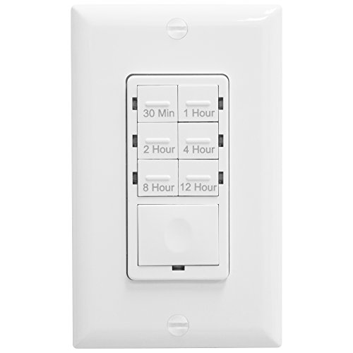 "Timer Switch Bathroom Fan: ""Enerlites HET06-12-W Bathroom Timer Switch, Fan Switch"