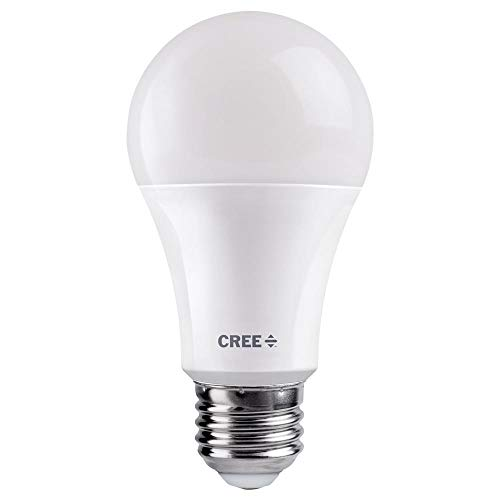 Cree 75W Equivalent Daylight (5000K) A19 Dimmable Exceptional Light Quality LED Light Bulb