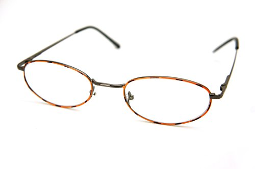 (ColorViper Vintage Classic Reader Metal Reading Glasses Small size (small size: tortoise shiny gunmetal frame, 2.50))