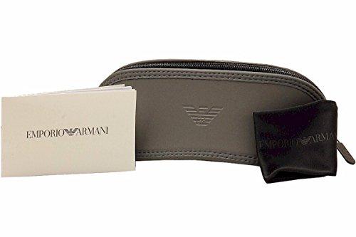 Emporio Armani lunettes de soleil en caoutchouc pont aviateur en mat gunmetal EA2059 30016Q 61 Grey Black Mirror Matte Gunmetal