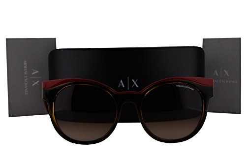 Armani Exchange AX4064S Sunglasses Havana Red w/Brown Gradient Lens 822413 AX - Aviator Armani Rectangular Exchange Sunglasses