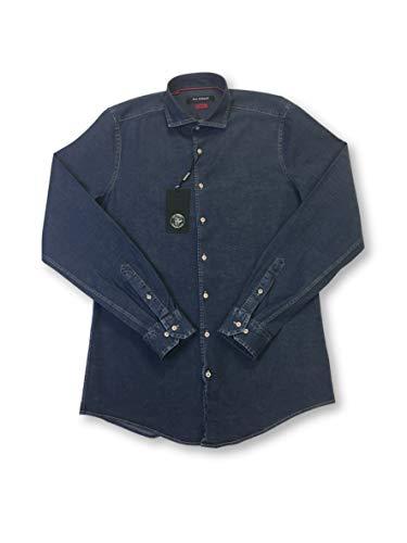 - Roy Robson slim fit shirt in navy denim size L Cotton