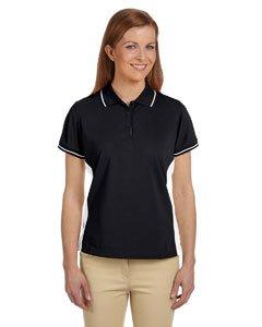- Devon & Jones Womens Dri-Fast Advantage Pique Polo (DG380W) -BLACK/WHIT -XL