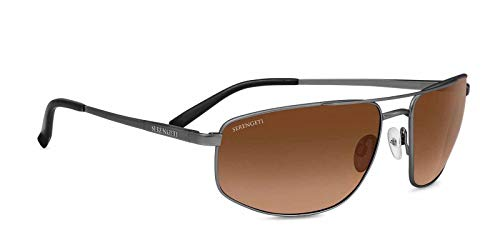 Serengeti Modugno 8408 Aviator Sunglasses, Non Polarized Drivers Grad Lens