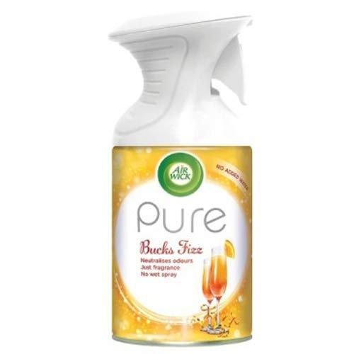 6 x Air Wick Bucks Fizz Pure Air Freshener Spray Home Scent Fragrance 250ml Airwick