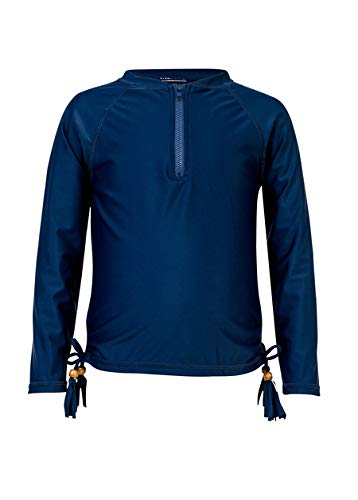 Snapper Rock Girls' LS Rash Top Navy (1/2 Zip) 4 & Sunscreen ()