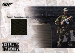 [James Bond Mission Logs JBR25 Russian Camouflage Uniform Costume Card #098] (Log Costume)