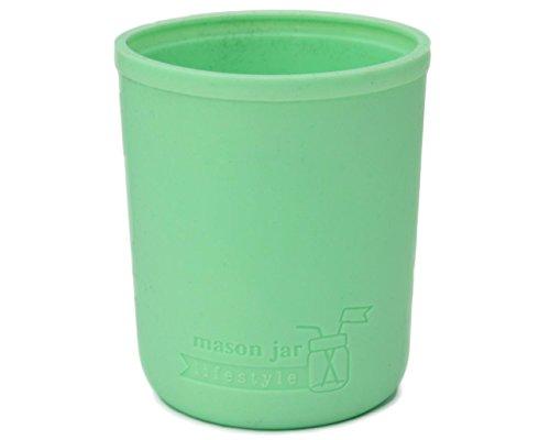 Silicone Sleeve Mason Jars Green product image