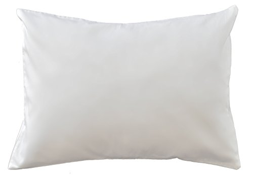 Dreamtown Kids 100% Luxurious PIMA Cotton Toddler PIllowcase (only), Fits 14x19 & 13x18 Toddler Pillows, Made in USA (WHITE) (Case Protector Usa)