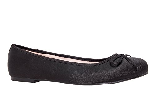 Ballerines Black Satin TG104 Andres Machado pBwT00