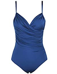 Hilor bañadores una Pieza Trajes de baño Crossover Mujer Control de Abdomen Trajes de baño Monokinis