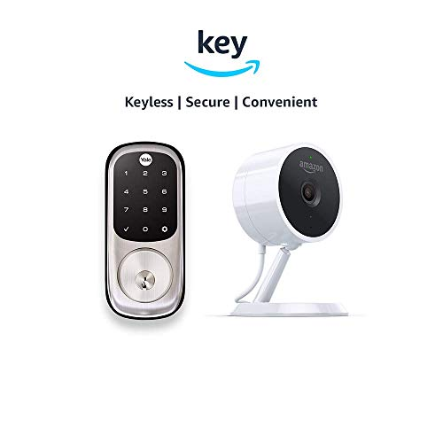Yale Assure YRD226 Touchscreen Deadbolt + Amazon Cloud Cam | Key Smart Lock Kit (Satin Nickel)