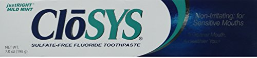 Care Products Flavored Toothpaste (Closys Fluoride Toothpaste, Mild Mint, 7)